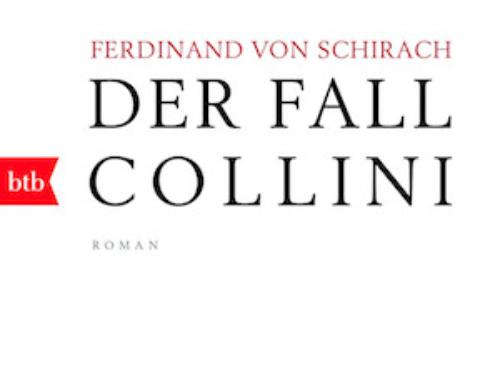"""KRIMI LESUNG IN DER MITTAGPAUSE: """"Der Fall Collini"""" von Ferdinand von Schirach"""